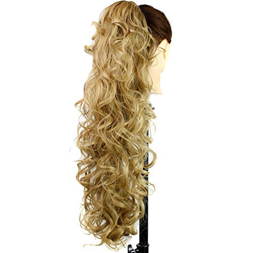 "DENIYA 31"" Ladies Long Messy Curly Claw Clip in Drawstrin..."