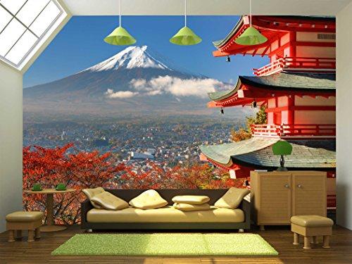 Mt Fuji Viewed from Behind Chureito Pagoda