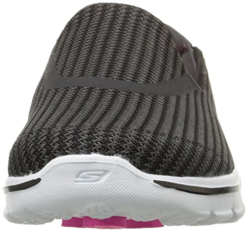 Go Women's Walking Walk 3 Black On White Slip Performance Shoe Skechers R6qwE46