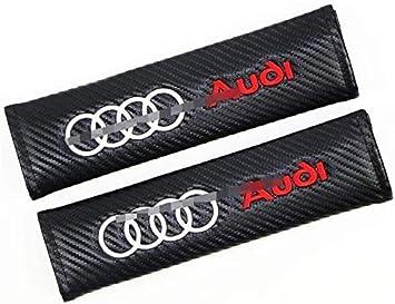 2 Pezzi Cuscinetto Cintura di Sicurezza Auto,Ricamo Logo del Marchioautomobilistico Spalla Copertura di Sicurezza per Audi Sline Q5 B8 TT A4L S5 A5 S6 RS7 Q7 A7 Interno Accessori
