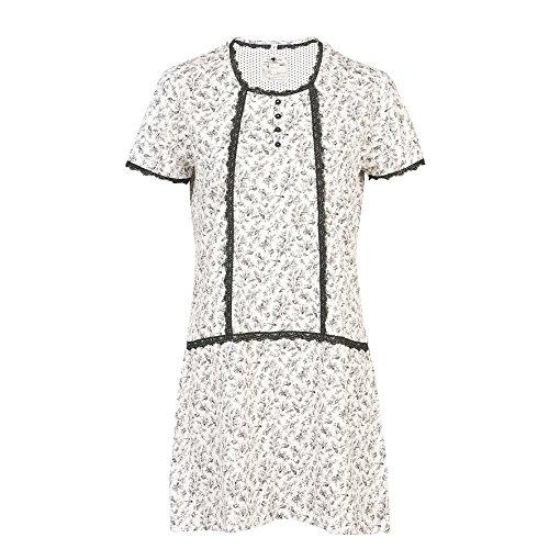 Clayre & Eef - Camisón - para mujer blanco schwarz weiss small