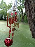 The Love Nest Wind Chime -Outdoor Decor - Yard Decor - Bottle Wind Chime