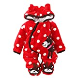 Gaorui Newborn Baby Jumpsuit Outfit Hoody Coat Winter Infant Rompers Toddler Clothing Bodysuit