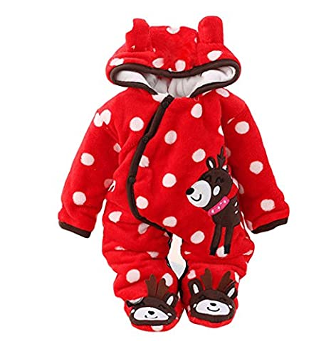 Newborn Baby Jumpsuit Outfit Hoody Coat Winter Infant Rompers Toddler Clothing Bodysuit - Jumpsuit Coat
