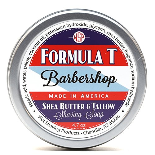 Shaving Soap WSP Formula T (Barbershop) 4.7 Oz Made with Shea Butter & Tallow