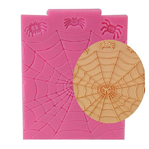 Clest F&H Halloween Spider web Shape Silicone Fondant Cakes Chocolate Moulds For Cake Decorating by Clest F&H