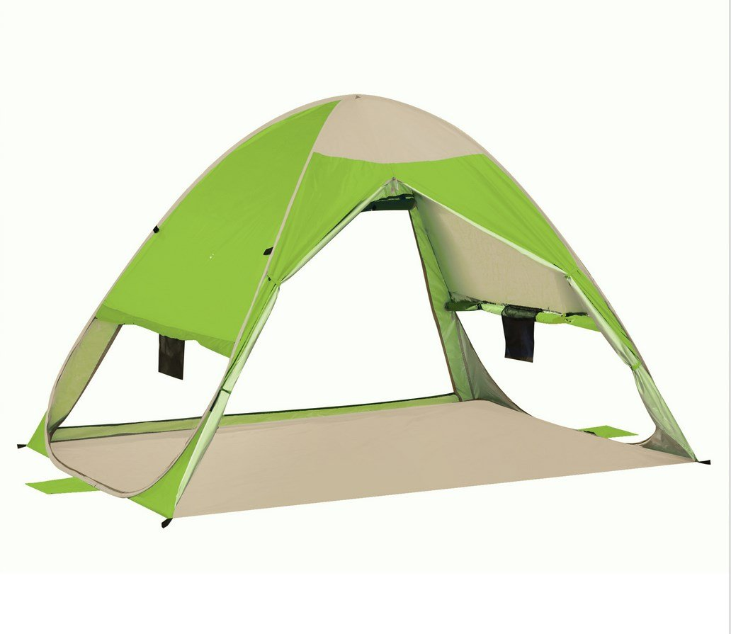 Strand Zelt Outdoor Automatische Zelt Geschwindigkeit Open Sun Visier 2-3 Personen Angeln Zelt ZXCV
