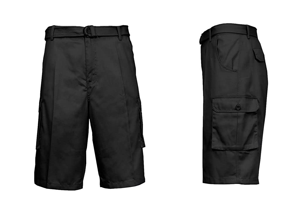 6f9bd446 Check out these basic cargo shorts for men made from 100% Cotton BEST  FEATURES - Double Stitched Hem - Includes D-ring belt - 2 Sided ...
