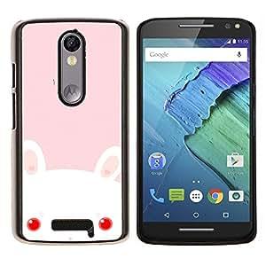 King Case - FOR Motorola Moto X 3rd / Moto X Style - Rabbit Cute Bady - Caja protectora de pl??stico duro Dise?¡Àado