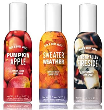 Amazoncom Bath And Body Works 3 Pack Autumn Favorites Room Spray