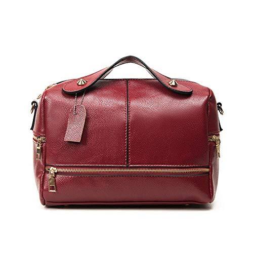 Bolsa Tamaño 27 20cm Vintage De Color Boston Grande Rojo Bolso qxznFtAU