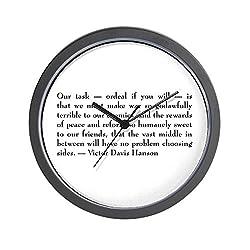 CafePress - Victor Davis Hanson - Ordeal Wall Clock - Unique Decorative 10 Wall Clock