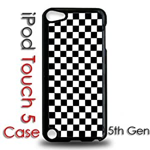 IPod 5 Touch Black Plastic Case - Checkers Checkerboard Pattern