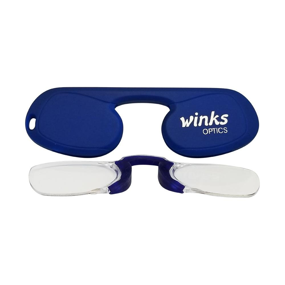 a11453f59ad1 Amazon.com  1.0 Lapis Blue Winks Optics Unisex Rimless Flat Oval Reading  Glasses  Health   Personal Care