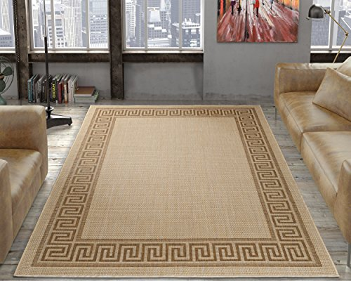 Border Rug Jute (Ottomanson Jardin Collection sisal Rug, 5'3