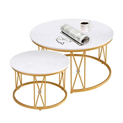 Amazoncom Marble Coffee Table Set Wrought Iron Frame