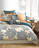 Bar lll Nara Twin XL Comforter in Teal Blue / Ivory