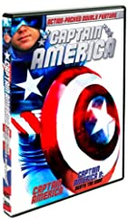 Captain America - When former Marine Steve Rogers is in an accident, his only hope for recovery is an injection of the FLAG super-serum created years ago by his own father which enhances each of his senses, as well as gives him great strength...