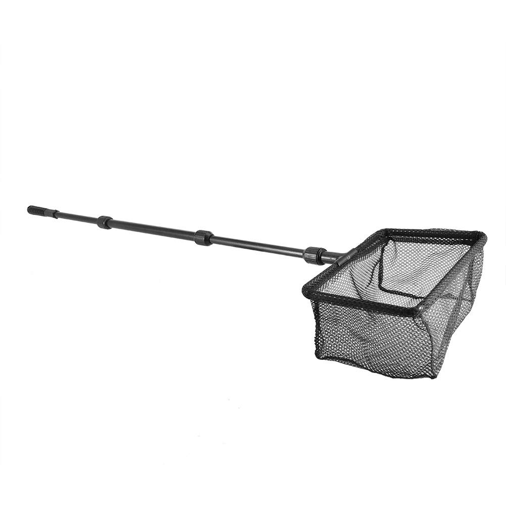 Pssopp Aquarium Fishing Landing Net Retractable Fish Tank Fishing Net Square Fish Shrimp Net Floating Objects Clean Tools for Fish Catch and Release (M) by Pssopp