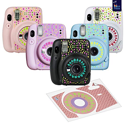 Image of Fujifilm Instax Mini 11 Instant Camera Ice White Compatible Carrying Case +