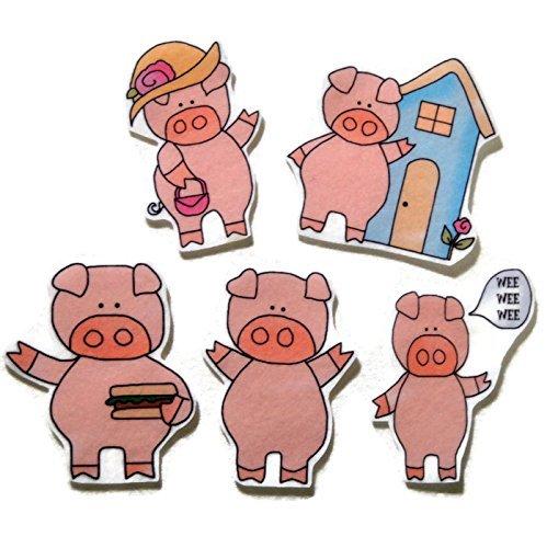 Set of 4 Little Piggy