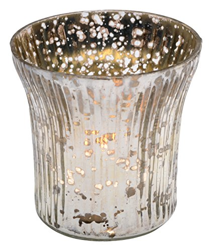 Insideretail TLA05MM36 Wedding Mercury Tea Light Holders-with Distressed Silver Foil, Set of 36