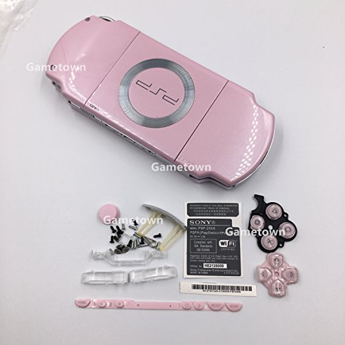 NEW Replacement Sony PSP 2000 Console Full Housing Shell Cover With Button Set (Pink Psp Console)