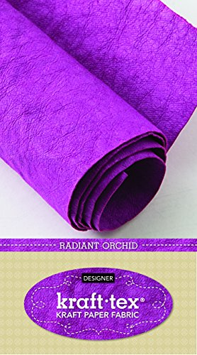 "Price comparison product image kraft-tex Radiant Orchid Prewashed & Hand-Dyed in Italy: Vegan Leather Alternative,  18.5"" x 28.5"" Roll (kraft-tex Designer)"