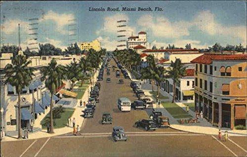 Lincoln Road Miami Beach, Florida Original Vintage - Lincoln Road Beach Miami