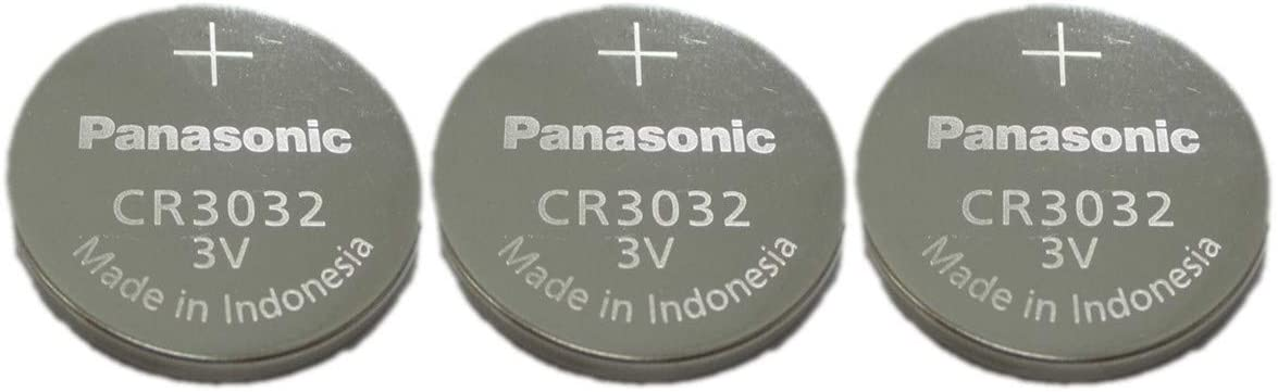 Panasonic Battery, Lithium Button Cell Cr3032- Cr 3032 (3 Pieces)