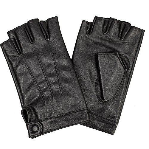 Leather Gloves Without Fingers - 1