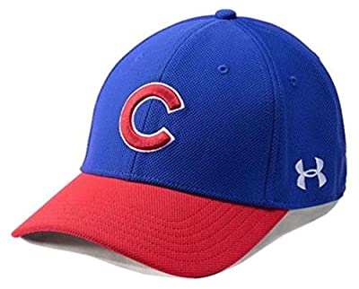 Under Armour UA Men's Chicago Cubs MLB Adjustable Blitzing Baseball Cap by Under Armour