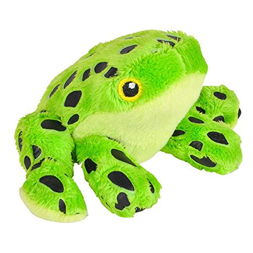 Wildlife Tree 3.5 Inch Green Poison Dart Frog Mini Small Stuffed Animals Bulk Bundle of Zoo Animal Toys or Jungle Safari Party Favors for Kids Pack of 12 Small Tree Frog