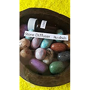 Aroma stones of Thailand is an innovative new way to help you in a teak cup Aromatherapy Essential Oil with 5 ml (Lemon Refreshing)