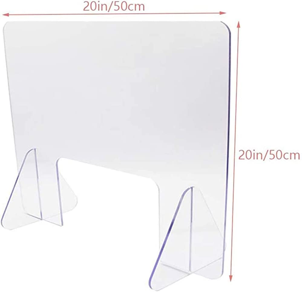 Office Screen School Store Cash Register Restaurant Anti-Spray Partition Desk and Table Partition to Prevent Cross Infection,20x20 inches