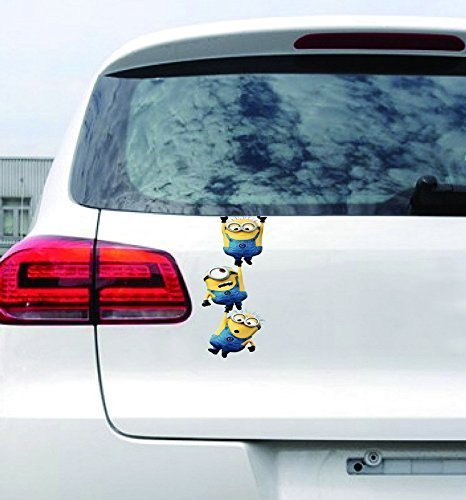 ADB Inc Despicable Me Minions 3D Cartoon Waterproof Stickers for Car (Minions 01)