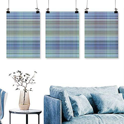 (SCOCICI1588 Three Consecutive Painting Frameless Digital Tiles Design Wallpaper Design Art Home Decor No Frame 16 INCH X 40 INCH X 3PCS)
