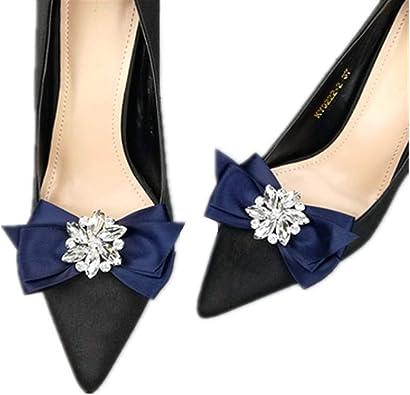 Femmes Bow Clips de chaussures strass Boucle brillant Accessoires clip de chaussures d/écoratifs