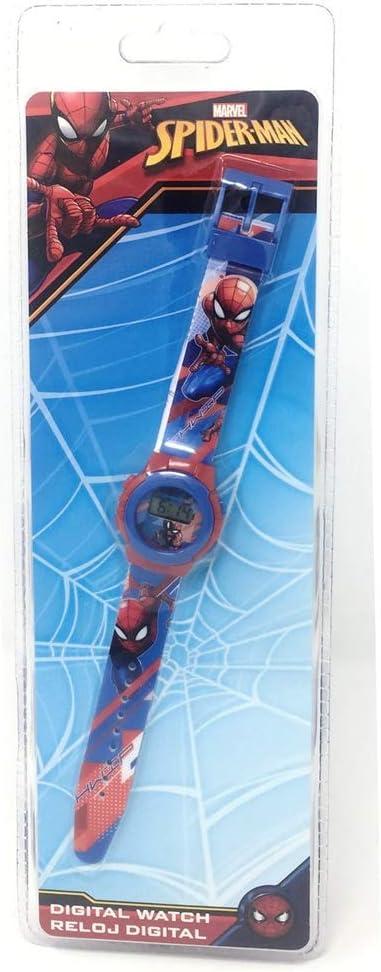 Spiderman Reloj Digital (MV15534), Multicolor (Kids Licensing 1)