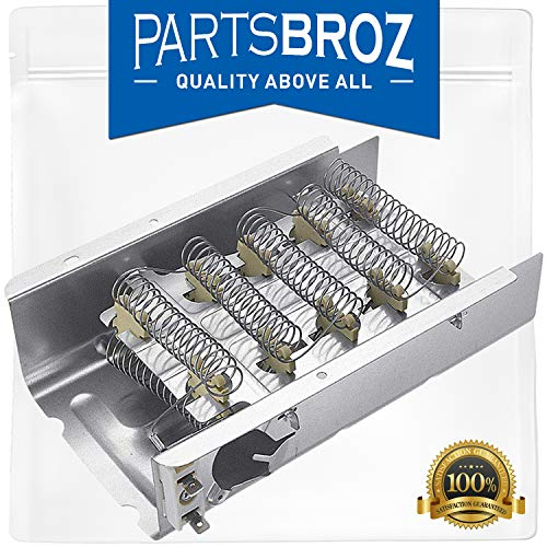 279838 Dryer Heating Element Replacement Part for Whirlpool & Kenmore Electric Dryers by PartsBroz - Replaces Part Numbers AP3094254, 279837, 2438, 279838VP, 3398064, 3403585, 8565582, AH334313 (279838 Element Part Heat Dryer)