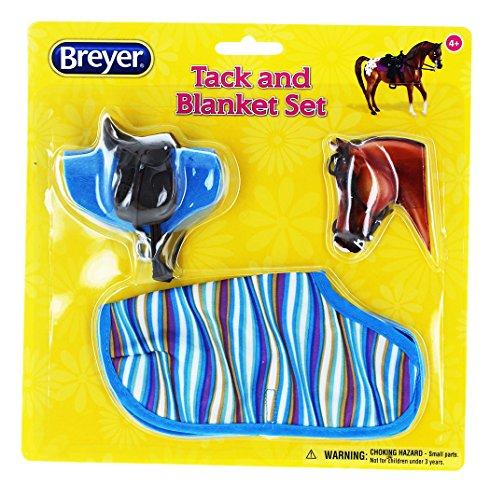 breyer-112-classics-tack-and-blanket-set-blue-stripes