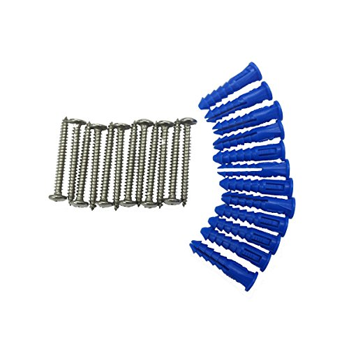 (Triton Products LB-MHK LocBoard 12 Steel Screws and 12 Plastic Wall Anchors for Mounting Steel Pegboard System LB1-B,T,W, LB2-B,T,W and LB18-B,T,W)