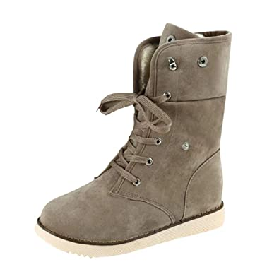 Confort Kaiki Flats Chaussures Bottes Lace Up femmes Hautes Y6v7fbgIy