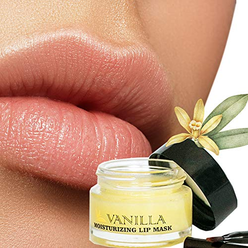 Moisturizing Green Tea Vanilla Sleeping Lip Mask Balm, Younger Looking Lips Overnight, Best Solution For Chapped And Cracked Lips, Unique Formula And Power Benefits Of Green Tea and Vanilla (Plumping Stain Lip)