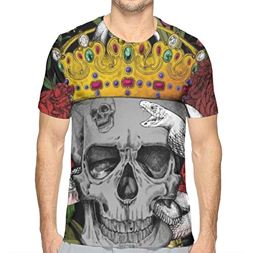 GJEHAGF King's Funeral Men's 3D Printed T-Shirt with Round Neck and Short Sleeves for Summer]()
