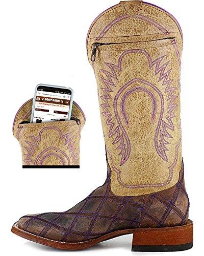 Macie Boonvrouwen Noem Me Misschien Western Boot Square Toe - M9095 Bruin