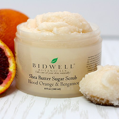 Blood Orange and Bergamot Shea Butter Sugar Scrub Daily Exfoliator