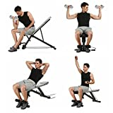 Kaluo Sit Up Bench Pro Strength Adjustable Workout Fitness Exercise Home Office(US Stock)