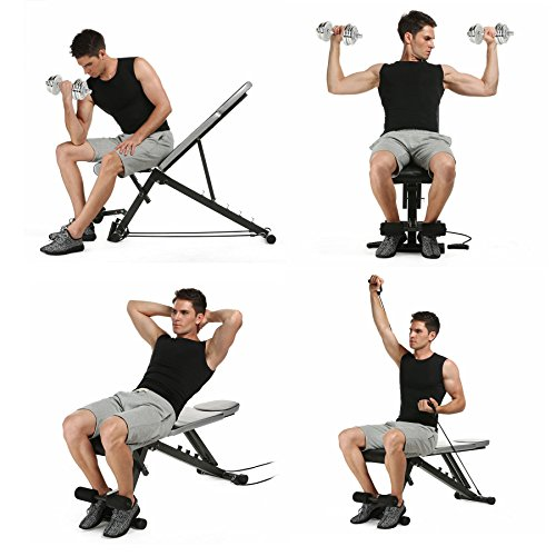 Kaluo Sit Up Bench Pro Strength Adjustable Workout Fitness Exercise Home Office(US Stock) by Kaluo