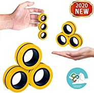Fingears Magnetic Rings Fidget Toy - Magnetic Bracelet Ring Unzip Toy Magical Ring Props Tools, Colorful Unzip